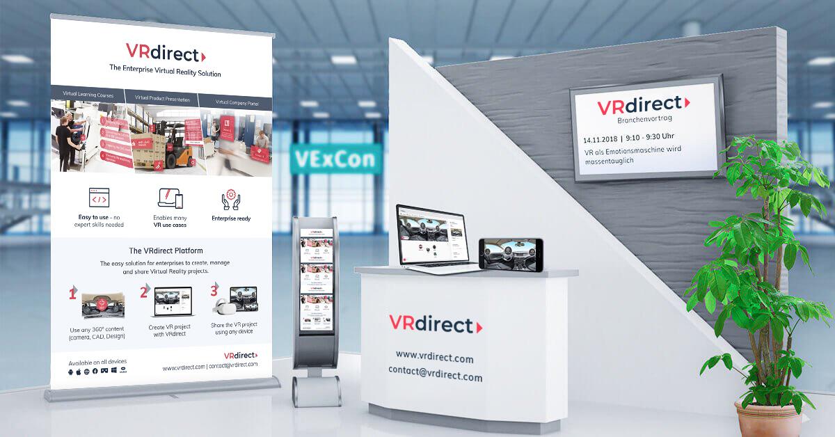 VRdirect at VExCon 2018 – Virtual Reality at Virtual Expo