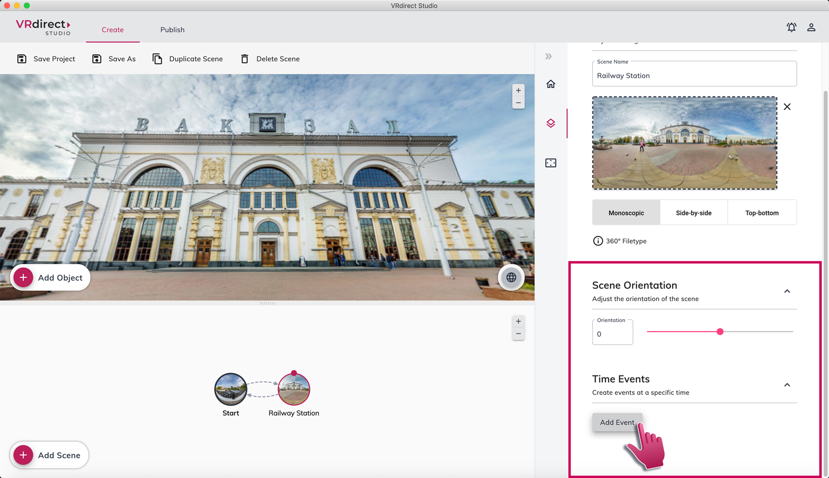 New feature in VRdirect Studio 2.2.0: Add external web links to your VR project and overcome software borders.