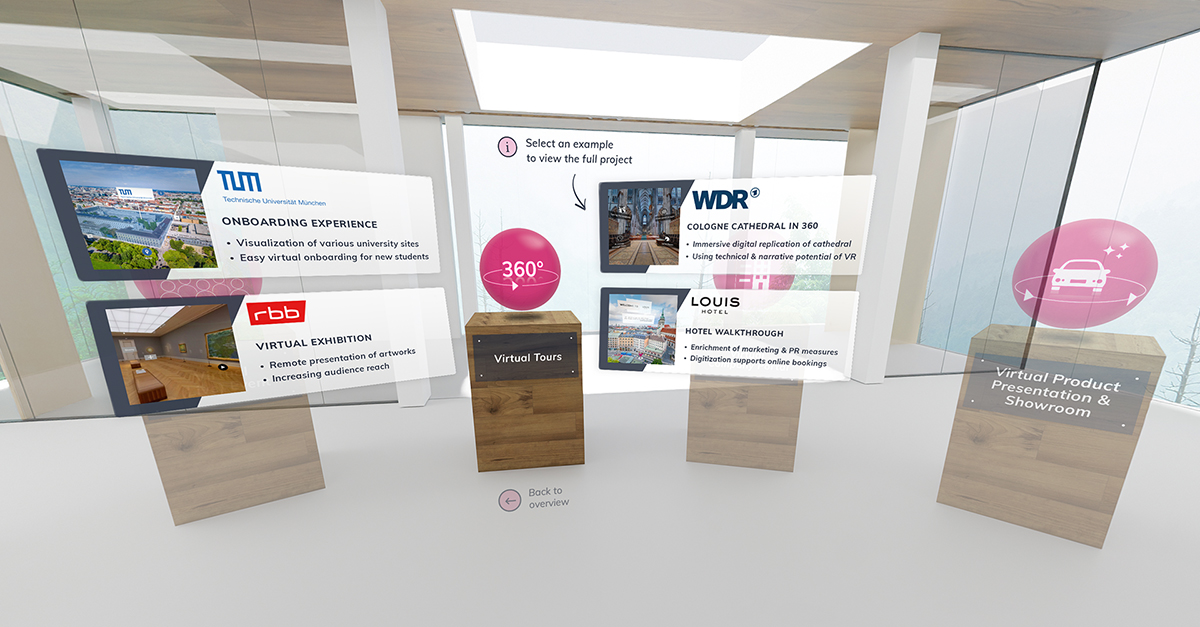 VRdirect Showroom - Virtual Reality Projects
