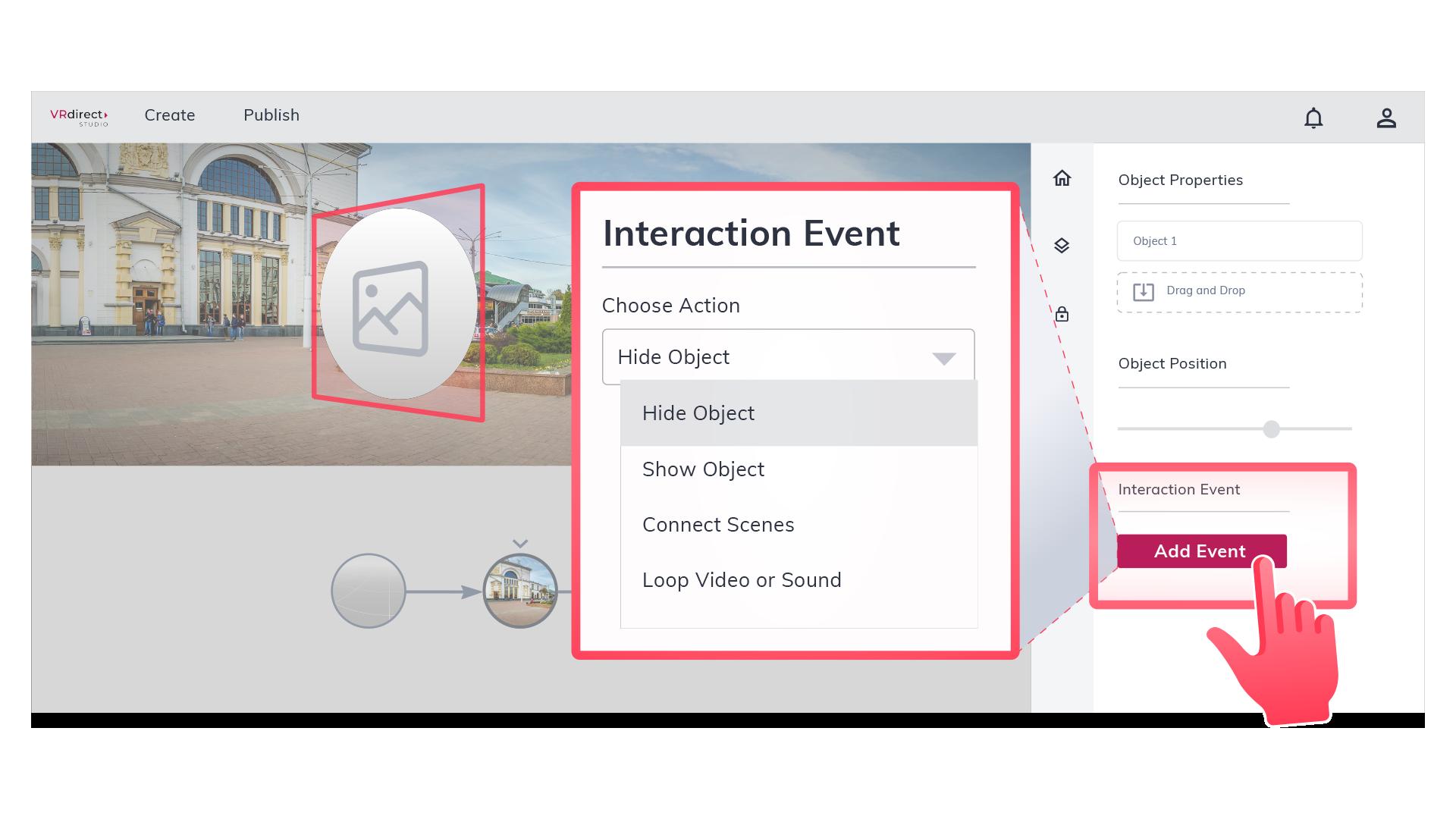 VRdirect Add Interaction