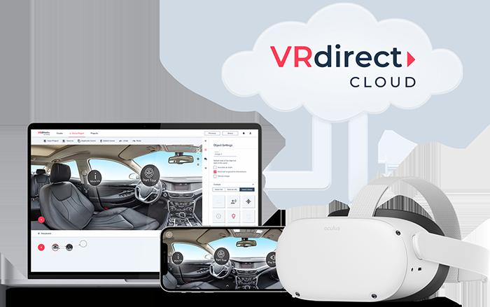 vrdirect platform cloud_ laptop smartphone oculus