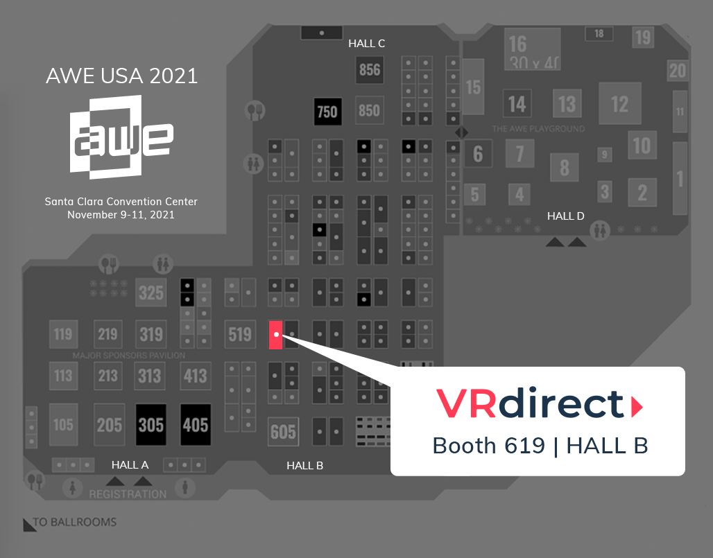 VRdirect at the AWE USA 2021, Booth-1051, Hall C