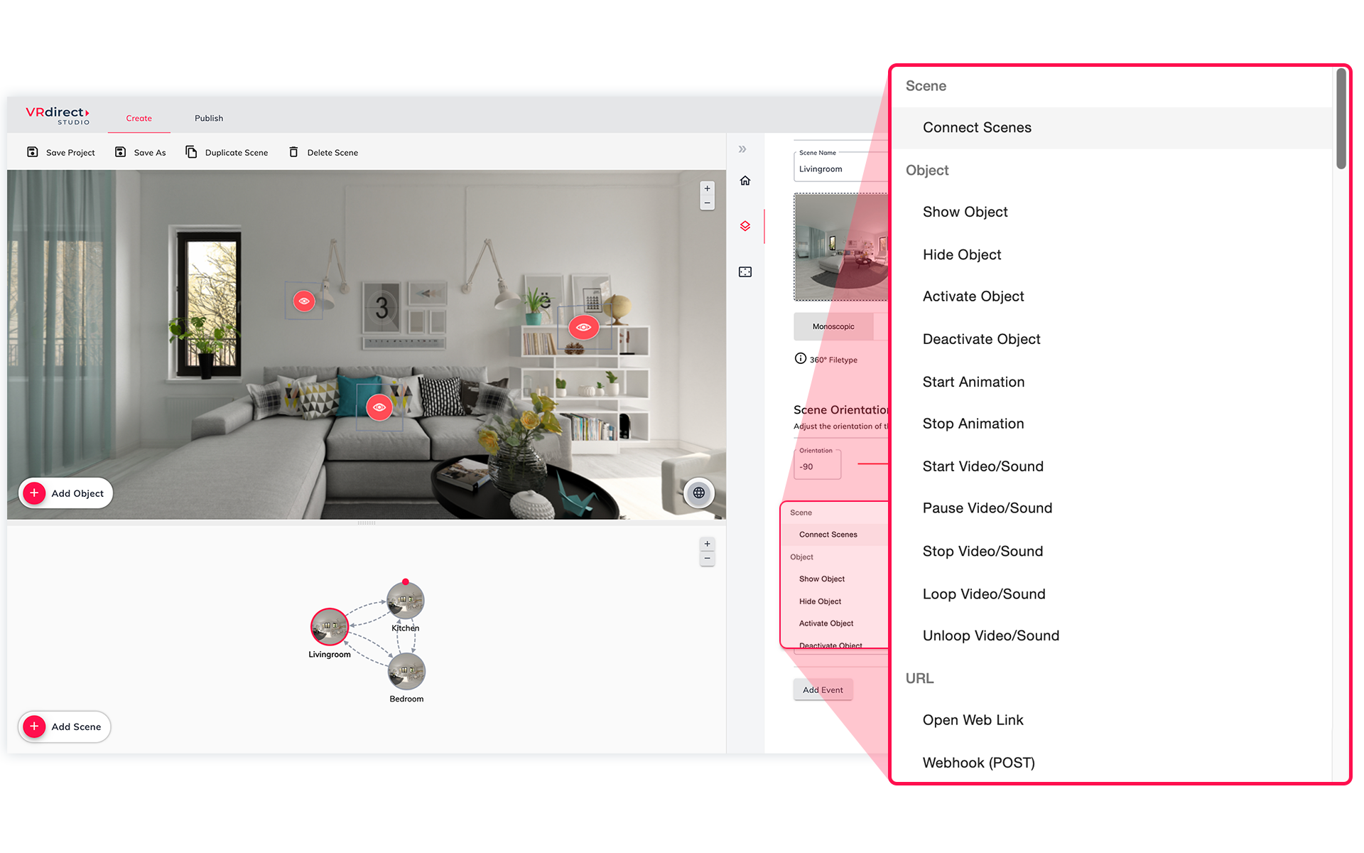 VRdirect Studio 2.5: Upgraded Webhook Support